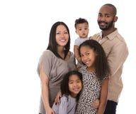 Ethnische zufällige Familie Stockbild