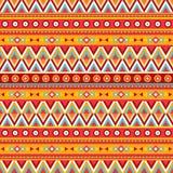 Ethnischer abstrakter Hintergrund Stammes- nahtloses Vektormuster Boho-Modeart Dekorative Auslegung Stockfotografie