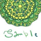 Ethnischer dekorativer boho Hintergrund mit Platz für Text Vector Blumenfahne Stockfotos