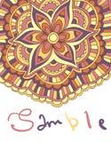 Ethnischer dekorativer boho Hintergrund mit Platz für Text Vector Blumenfahne Stockbilder