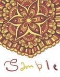 Ethnischer dekorativer boho Hintergrund mit Platz für Text Vektorblumenfahne mit Blumen Für die Einladung Grußkarten, Aufkleber Lizenzfreie Stockbilder