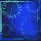 Ethnischer Hintergrund, Blauvektorrahmen. Lizenzfreie Stockfotografie