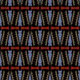 Ethnischer Stammes- Arthintergrund des nahtlosen Gekritzelvektormusters Lizenzfreies Stockbild