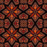 Ethnischer Stammes- Arthintergrund des nahtlosen Gekritzelvektormusters Stockfotos