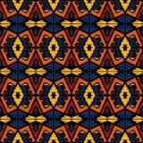 Ethnischer Stammes- Arthintergrund des nahtlosen Gekritzelvektormusters Stockbild