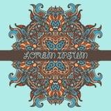 Ethnischer Stammes- aztekischer dekorativer Hintergrund Stockbild