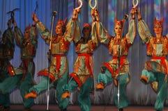 Ethnischer Tanz von Nekrasovskie Kazaki Stockfotos
