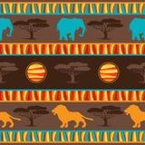 Ethnisches afrikanisches abstraktes geometrisches nahtloses Gewebe Stockbild