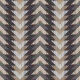Ethnisches boho nahtloses Muster Gekritzelbeschaffenheit Kleine Verzierung mit Quadraten Stockfotos