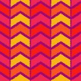 Ethnisches boho nahtloses Muster Gekritzelbeschaffenheit Kleine Verzierung mit Quadraten Lizenzfreies Stockfoto