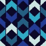 Ethnisches boho nahtloses Muster Gekritzelbeschaffenheit Kleine Verzierung mit Quadraten Stockbild