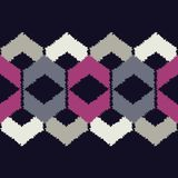 Ethnisches boho nahtloses Muster Gekritzelbeschaffenheit Kleine Verzierung mit Quadraten Lizenzfreies Stockbild