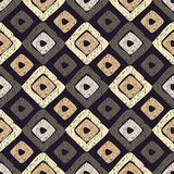 Ethnisches boho nahtloses Muster Gekritzelbeschaffenheit Retro- Motiv Stockfotografie