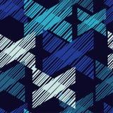 Ethnisches boho nahtloses Muster Handausbrüten Traditionelle Verzierung Geometrischer Hintergrund Kleine Verzierung mit Quadraten Lizenzfreie Stockbilder