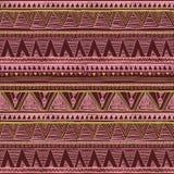 Ethnisches boho nahtloses Muster Stammes- Kunstdruck Hintergrundbeschaffenheit, wickelnd, rote Rosarose des Tapetenvektors ein lizenzfreie abbildung