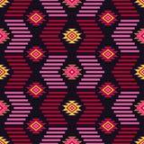 Ethnisches boho nahtloses Muster Stammes- Kunstdruck, wiederholbarer Hintergrund Retro- Motiv Stockbild