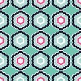 Ethnisches boho nahtloses Muster Textilbericht Lizenzfreies Stockbild