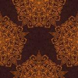 Ethnisches dekoratives handgemachtes nahtloses Luxusmuster Islam, Arabisch, Inder, Osmanemotive Klassische Mandala Vektor vektor abbildung