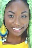 Ethnisches Frauen-Gesicht: Afrikanische Schönheit, Verschiedenartigkeit Stockfoto