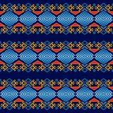 Ethnisches geometrisches nahtloses Muster stockbild