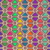 Ethnisches geometrisches nahtloses Muster Lizenzfreie Stockfotografie