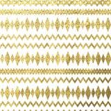 Ethnisches goldenes Muster der Vektorweinlese Lizenzfreie Stockfotografie