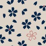 Ethnisches Kirschblüte-Muster lizenzfreie abbildung