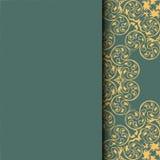 Ethnisches Muster Abstrakte Grußkarte, Hintergrund mit Blumen und dekorative Blätter Für Geschenke, Dekoration und Einladungen fü Lizenzfreie Stockbilder