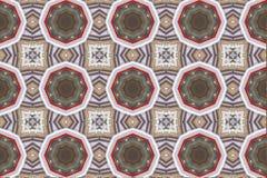 Ethnisches Muster Abstraktes Kaleidoskopgewebedesign Stockfotografie
