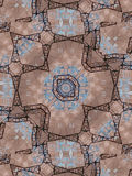 Ethnisches Muster Browns Abstraktes Kaleidoskop Lizenzfreies Stockbild