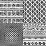 Ethnisches Muster der Stammes- Weinlese nahtlos Stockbild