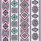 Ethnisches Muster der Stammes- Weinlese nahtlos Lizenzfreie Stockfotografie