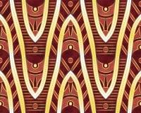 Ethnisches Muster Goldene Formen Ethnische Auslegung Es kann für Leistung der Planungsarbeit notwendig sein vektor abbildung