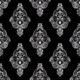 Ethnisches Muster mit hamsa Lizenzfreie Stockbilder