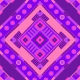 Ethnisches Muster Stammes- Druck Stammes- Hintergrund Nahtloses Muster stock abbildung