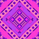 Ethnisches Muster Stammes- Druck Stammes- Hintergrund Nahtloses Muster lizenzfreie abbildung