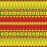 Ethnisches Muster Stammes- Kunst Afrikanisches nahtloses Muster lizenzfreie abbildung