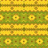 Ethnisches Muster Stammes- Kunst geometrisches nahtloses Muster Stockbild