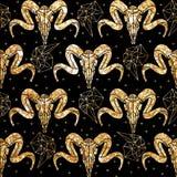 Ethnisches Muster in zentangle Art für Gewebe, Lizenzfreies Stockfoto
