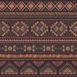 Ethnisches nahtloses der Stammes- Weinlese Stockbilder