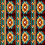 Ethnisches nahtloses Muster stockfotografie