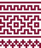 Ethnisches nahtloses Muster in den roten und weißen Farben Lizenzfreie Stockbilder