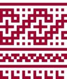 Ethnisches nahtloses Muster in den roten und weißen Farben Stockbild