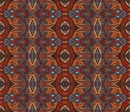Ethnisches nahtloses Muster der abstrakten Mosaikweinlese Stockfoto