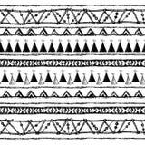 Ethnisches nahtloses Muster in der gebürtigen Art Internatsschülerwigwammuster Von Hand gezeichneter indischer Vektor Zeltmuster  Lizenzfreie Stockfotografie