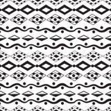 Ethnisches nahtloses Muster der Stammes- Kunst Stockbild