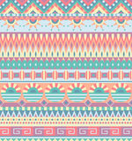 Ethnisches nahtloses Muster Geometrische Stammes- Verzierung Volksart Bunter abstrakter Hintergrund lizenzfreie abbildung