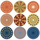 Ethnisches rundes dekoratives Muster. Lizenzfreie Abbildung