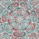 Ethnisches rundes Muster in der peruanischen Art Entwurf Stockfoto