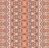 Ethnisches Stammes- geometrisches aztekisches gestreiftes Muster für Gewebe Lizenzfreie Stockbilder